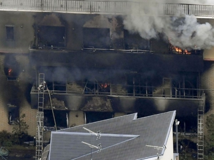 The fire broke out at the three-storey building at around 10:30am local time on Thursday