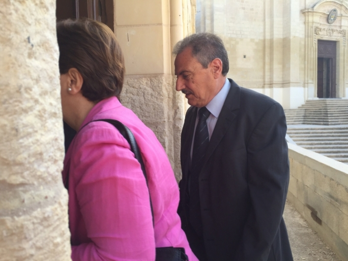 Anthony Debono, with his wife and former Gozo minister Giovanna Debono