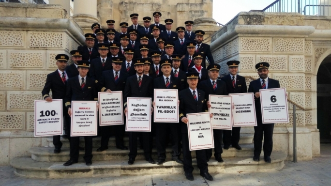 2016: Air Malta pilots file a court case contesting a prohibitory injunction by national airline Air Malta against their right to take industrial action