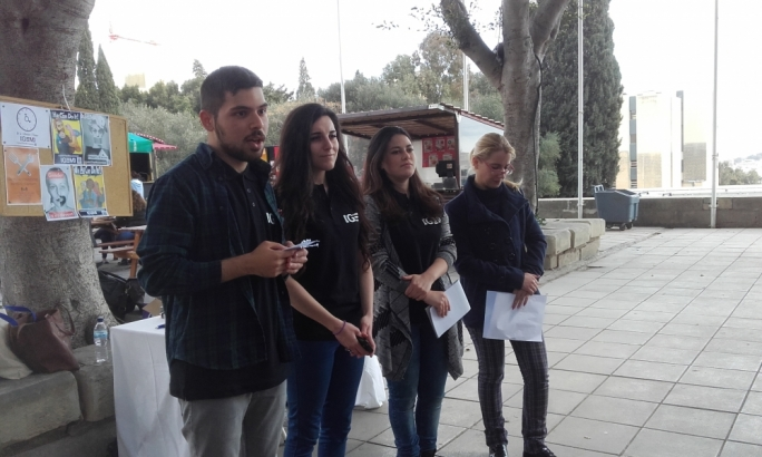 (Left to right) Students Johann Agius, Melanie Bonnici and Emily Mifsud with Isabelle Camilleri from the Department of Gender Studies