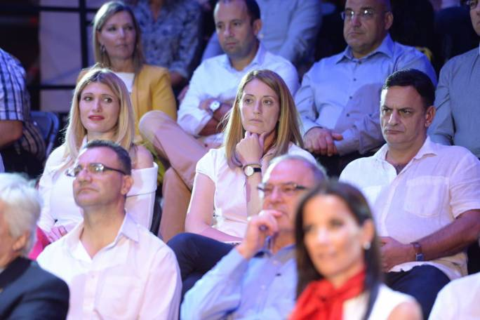 Unlike Kristy Debono (left), who is a Delia backer, Roberta Metsola seemed to have spent the evening ruminating on whether PN members are indeed the best judges of character...