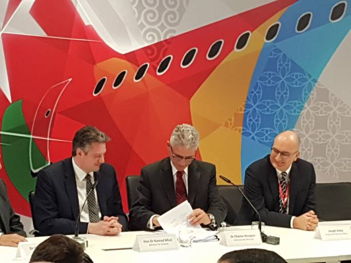 Air Malta today signed a collective agreement with the GWU on ground handling staff