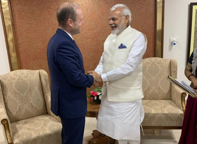 [WATCH] Muscat meets India's Modi in talks focusing on investment and airline connections