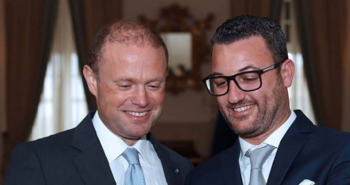 Trevor Fenech (right) with Prime Minister Joseph Muscat