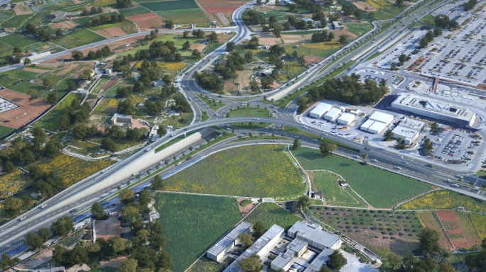 The project will transform Gudja roundabout