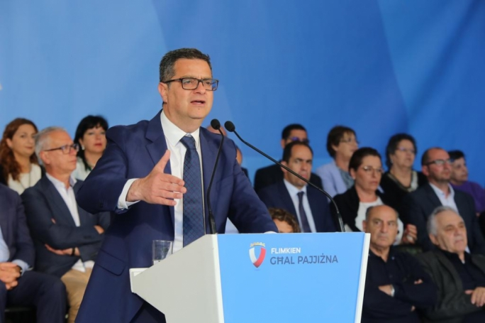 Adrian Delia was speaking at a Nationalist Party event in Mellieha on Sunday