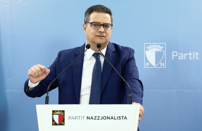 Adrian Delia was speaking during a PN event on Sunday
