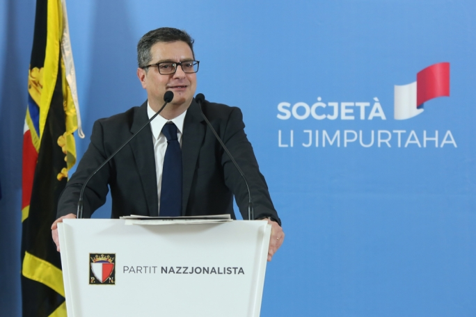 Nationalist Party leader Adrian Delia warned voters that staying home would mean a vote for Joseph Muscat