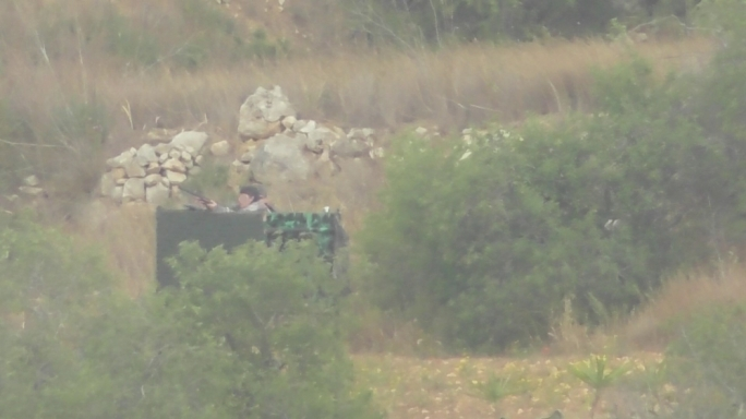 The photo released by BirdLife Malta purports to show a child handling a shotgun in a hunter's hide