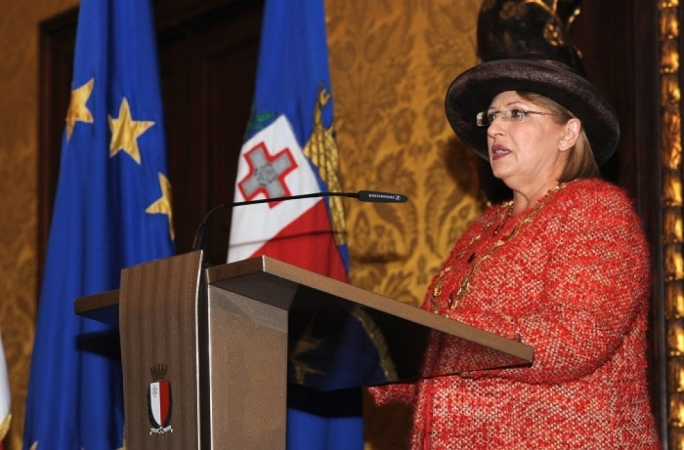 File photo: President Marie Louise Coleiro Preca