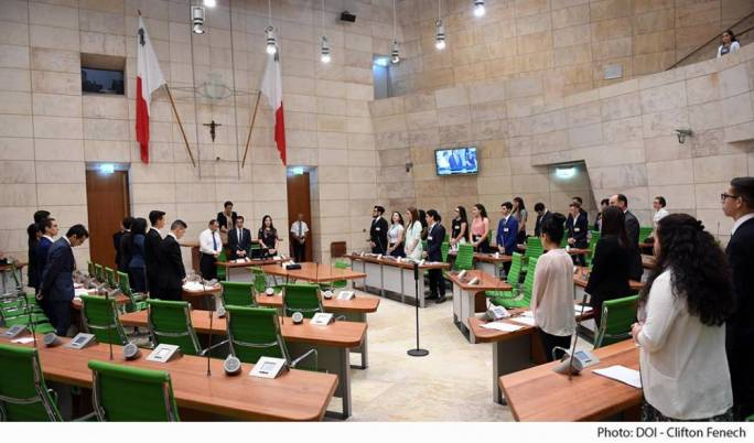 During the National Youth Parliament, youths proposed that Malta have a proper consultation on abortion (Photo: DOI)