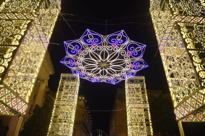 [WATCH] Christmas has been set alight in Valletta