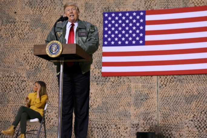 Trump arrived in Iraq the day after Christmas, having faced criticism for not visiting US troops deployed overseas