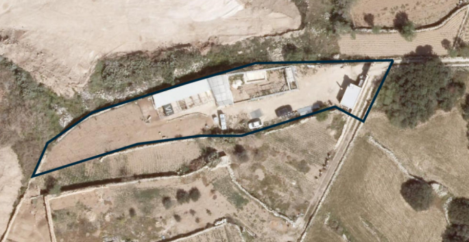 Aerial photos of the site in 2012 and 2016 – the site before and after the 'animal enclosures' were set up
