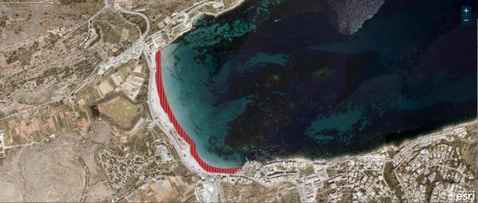 Work on Għadira Bay extension gets underway