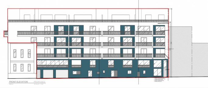 The plan for the new apartments