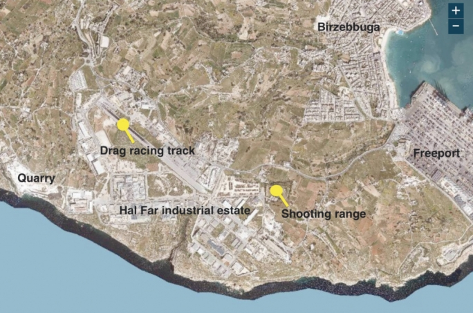 The area between Hal Far  and the Malta Freeport has been identified by many as a possible site for the race track