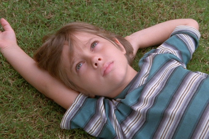 Growing pains: Ellar Coltrane, age six in Richard Linklater's real-time coming-of-age story