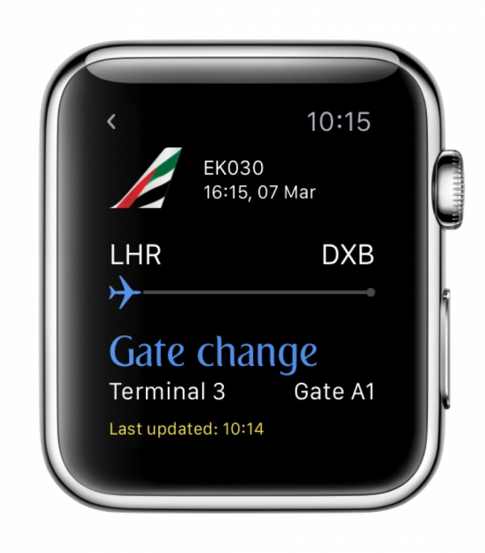 Emirates' customers from around the globe will be able to enjoy the smart features and sleek interface of the Emirates app for Apple Watch designed to complement the Emirates iPhone app