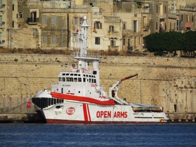 Open Arms vessel docked in Valletta back in 2017