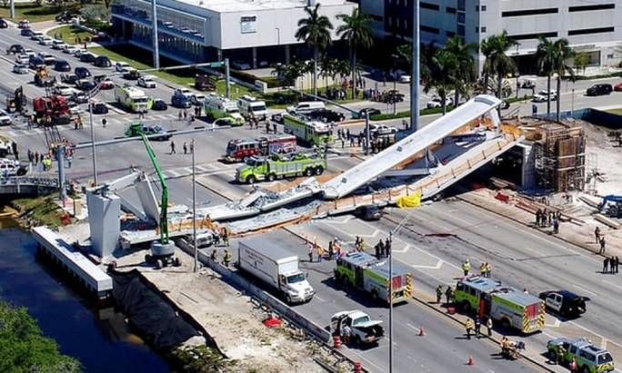 The bridge collapsed just five days after instalment