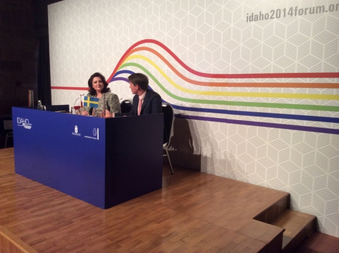 Civli Liberties Minister Helena Dalli with Swedish Minister for Integration Erik Ullenhag