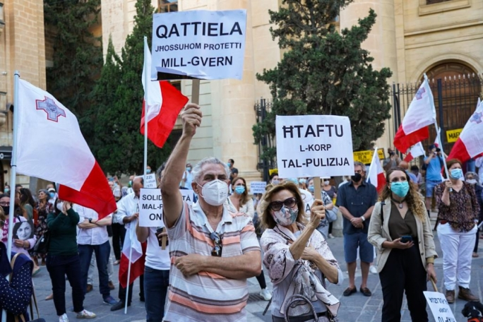 [WATCH] Caruana Galizia vigil: Abela handpicked by Muscat to ensure corruption continuity, activist says