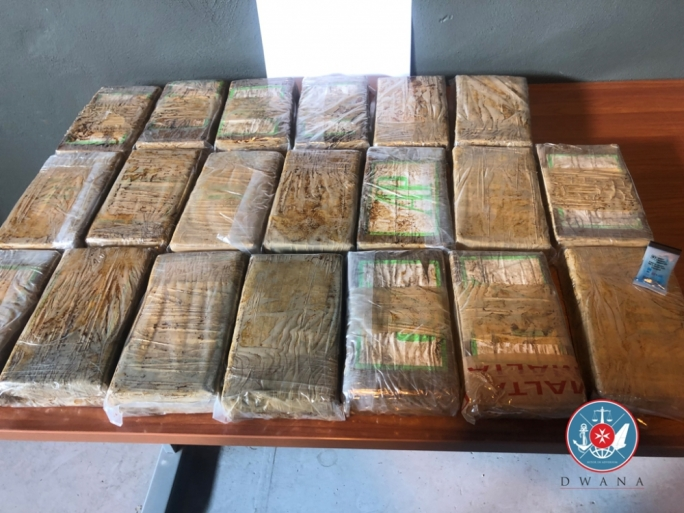 Sunday's discovery followed Tuesday's previous find of 24kgs of cocaine