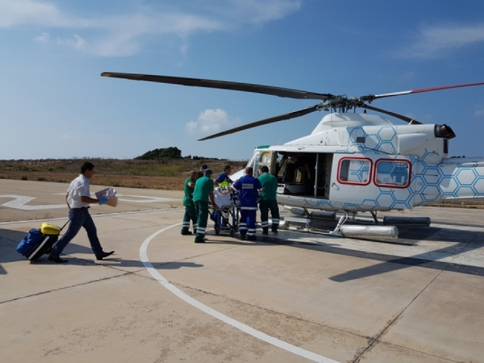 Ever since the new air ambulance started operating, more patients were being transferred than ever before – the ministry