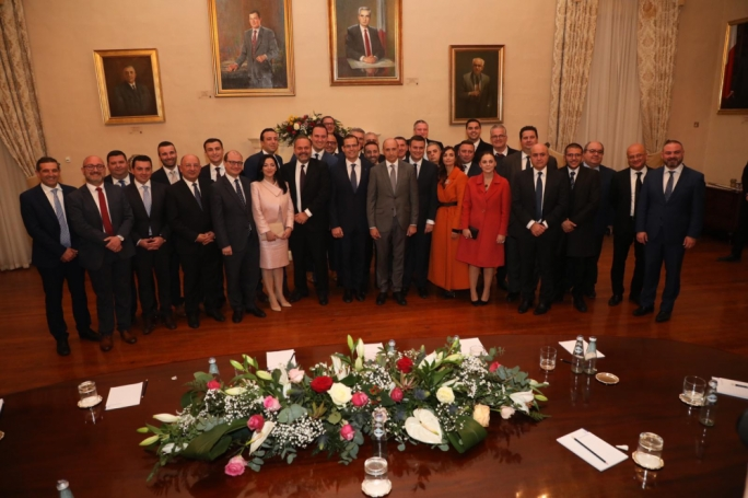 Robert Abela and Chris Fearne stand shoulder to shoulder a few hours after Abela was sworn in as Malta's 14th Prime Minister
