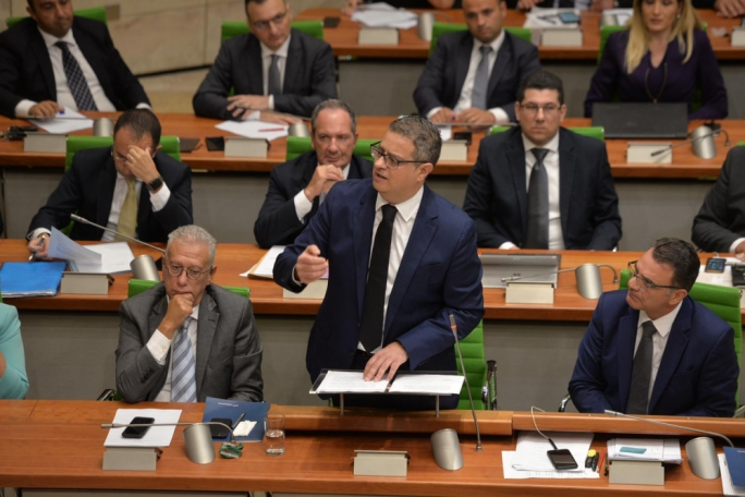 Adrian Delia offered a confident delivery to the loud dissent of government ministers