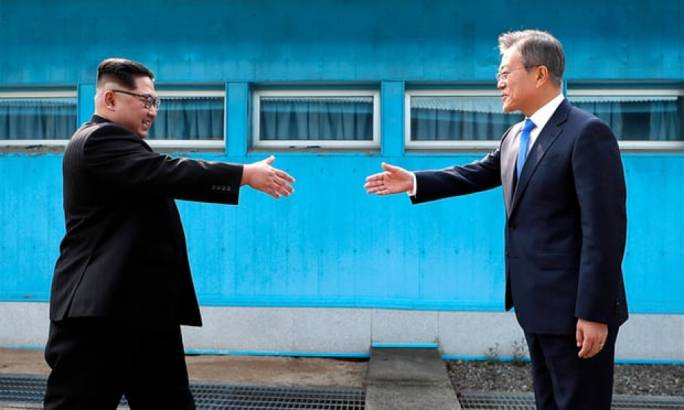 North and South Korean leaders during today's summit