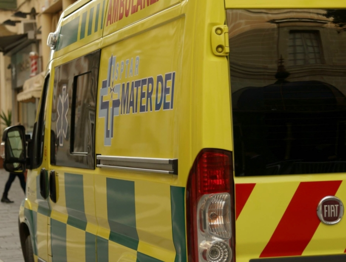 An ambulance was called on site to convey the motorcyclist to Mater Dei hospital