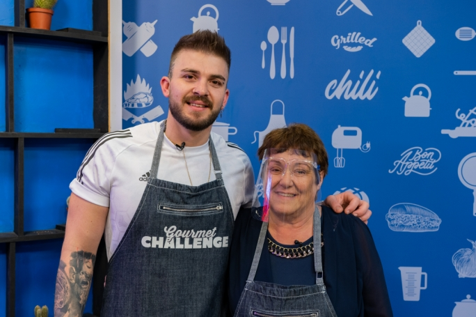 Dylan Agius and Agnes Spiteri on Gourmet Challenge