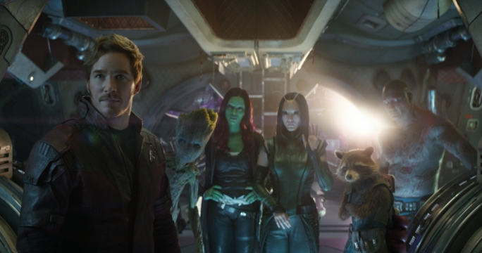 Unlikely heroes: Led by Peter Quill/Starlord (Chris Pratt), the Guardians of the Galaxy are back