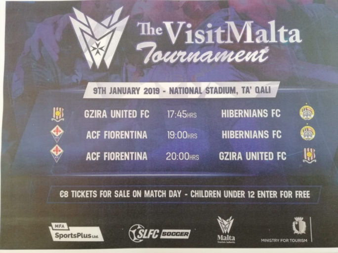 The Visit Malta Tournament fixtures