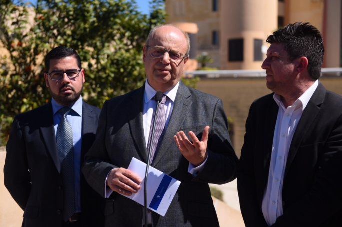 PN MEP Francis Zammit Dimech unveiled the party's proposals to fight cancer. (Photo: James Bianchi/MediaToday)