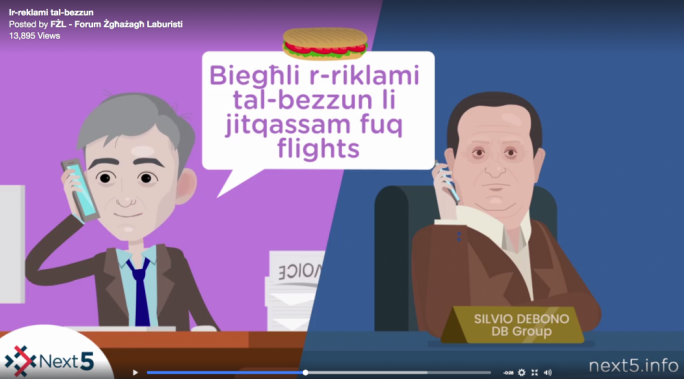 FZL launched an animation which poked fun at Simon Busuttil's refusal to publish invoices related to donations received from db Group