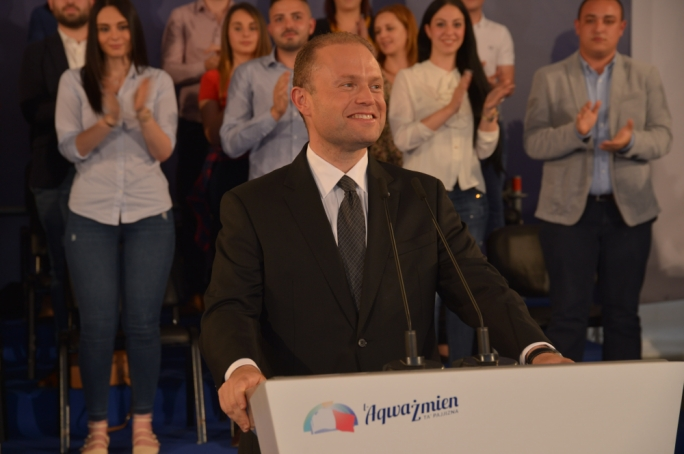 Labour leader Joseph Muscat addresses Ghaxaq political activity