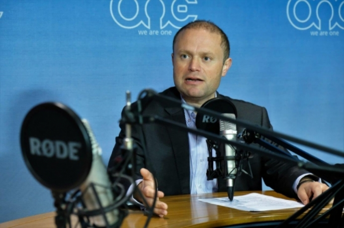 Joseph Muscat was speaking during a recorded interview on One Radio
