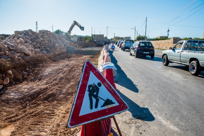 Tal-Balal road in San Gwann: build now, sanction later