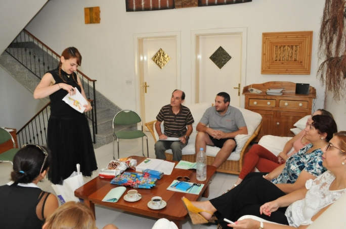 Karrie Fransman during a workshop for teachers in Gozo last month