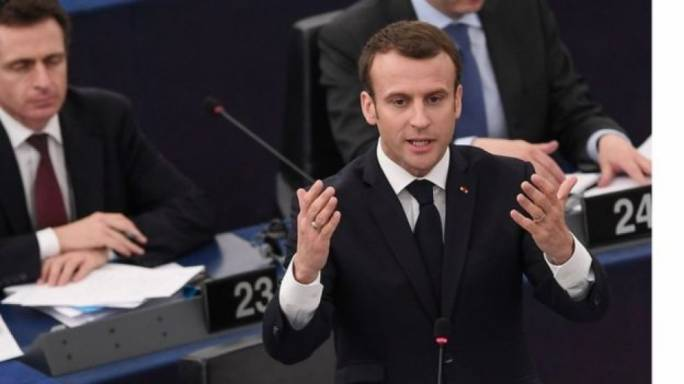 Macron likens political divisions in Europe to civil war