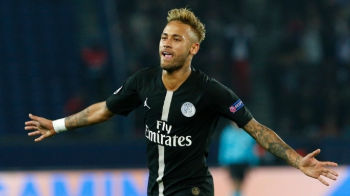 Brazilian forward Neymar scored three of PSG's goals