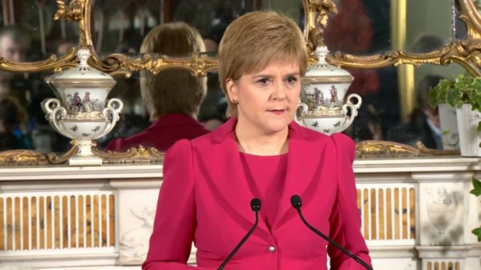 Nicola Sturgeon was speaking at her official Bute House residence in Edinburgh