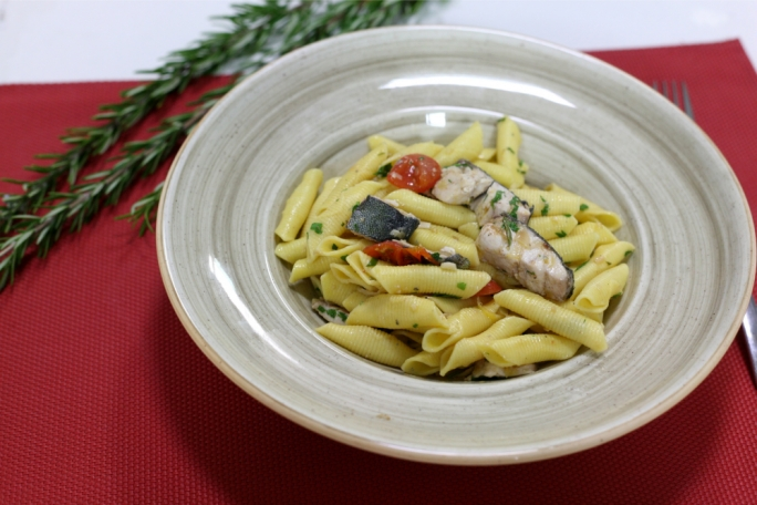 Garganelli lampuki lemon and rosemary