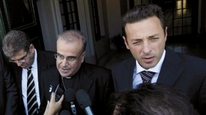Patrick Valentino (right) is the lawyer of the MSSP sex abuse victims seeking compensation from the Maltese archdiocese, seen here with bishop Paul Cremona.  In 2017 he was made 'rector' of the Giuspatronat, upon agreement of Archbishop Charles Scicluna with the Stagno Navarra heirs.  Together with Berracimp owner Carmelo Galea, he is pursuing court action against the quarry operators Gatt Development, over abusive rock-cutting