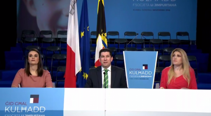 [WATCH] Clyde Puli warns of threat to Maltese culture as PN launches General Council