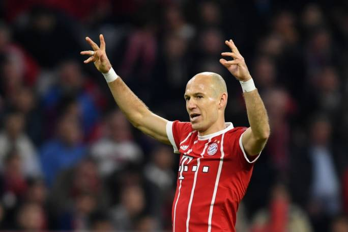 Arjen Robben in action