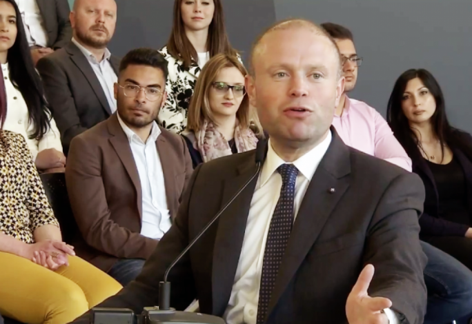 [WATCH] People will choose between Joseph Muscat and Adrian Delia in May - Prime Minister